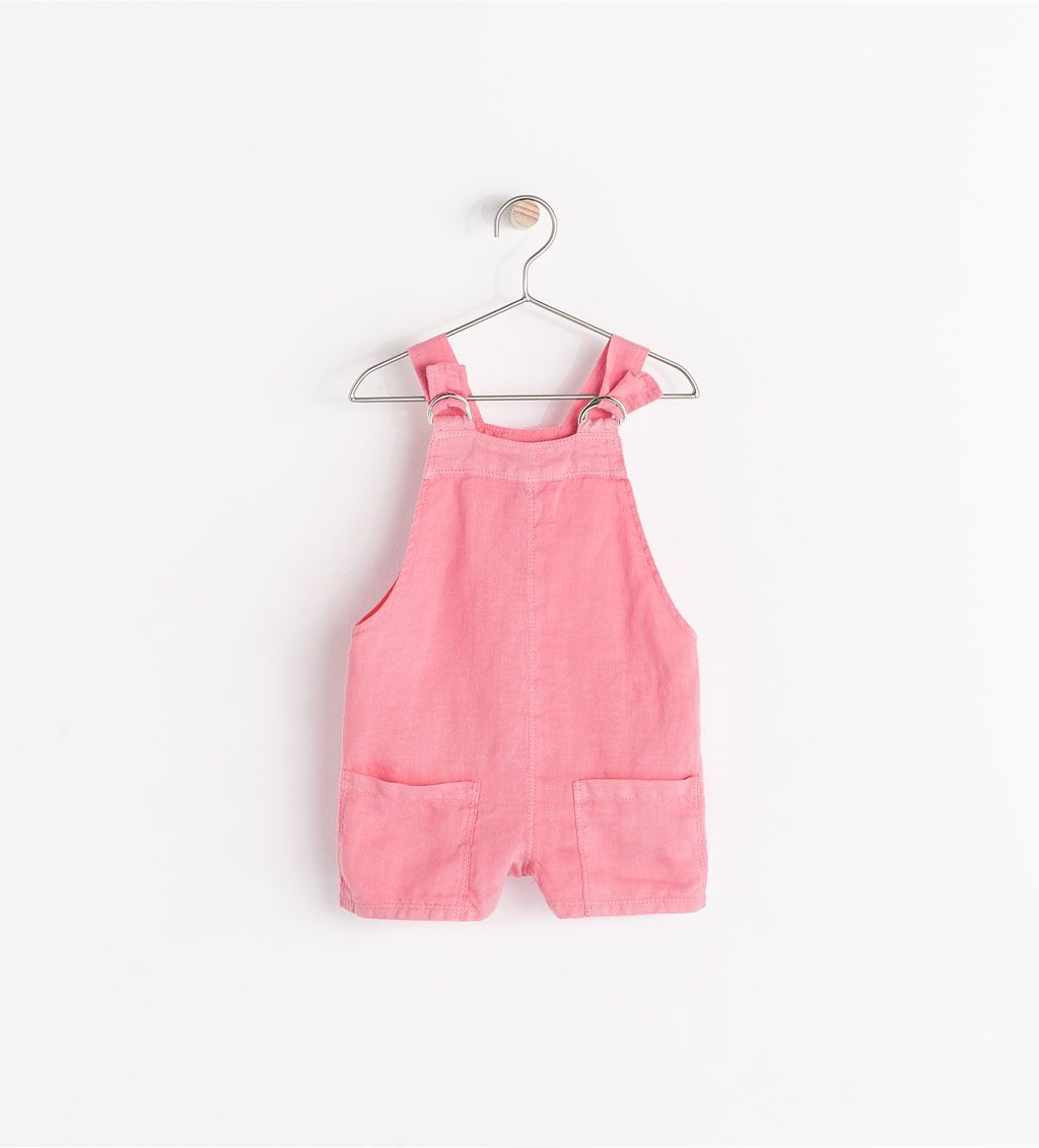 Baby pink dungaree dress  Image  of ADJUSTABLE DUNGAREES from Zara  kids clothes  roupas de