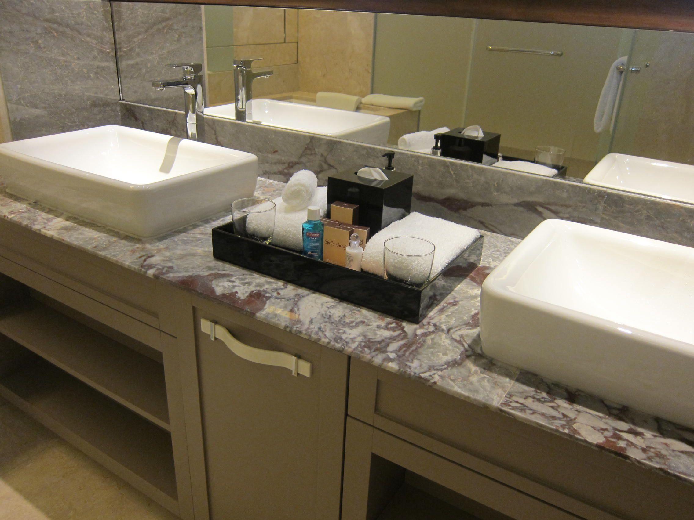 Guest Bathroom Toiletries Display