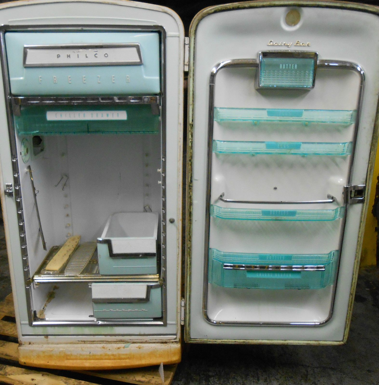 Antique vintage unfinished refrigerators - Vintage Philco Refrigerator Model H936 Ser Skc112004 Style Ra Ebay