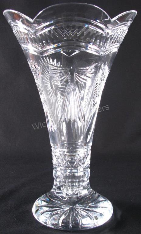 Waterford Millennium Crystal Statement Vase Waterford Crystal Vase Wickliffauction Statement Vase Crystals Vase