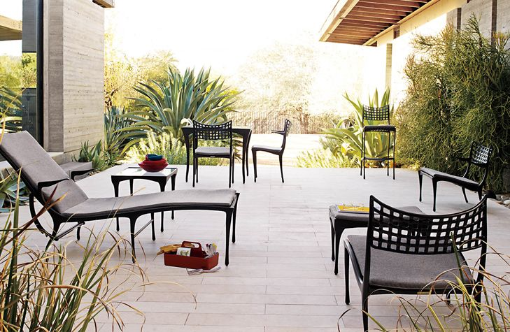 Beautiful Sol Y Luna Outdoor Furniture 1954 Designed By Dan Johnson Produced Brown Jordan For Dwr Cast Aluminum Made In Mexico