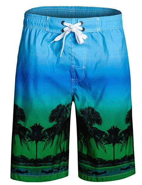 3694f6cbcc APTRO Men's Quick Dry Board Shorts Printed Palm Beach Swim Wear:  Amazon.co.uk: Clothing