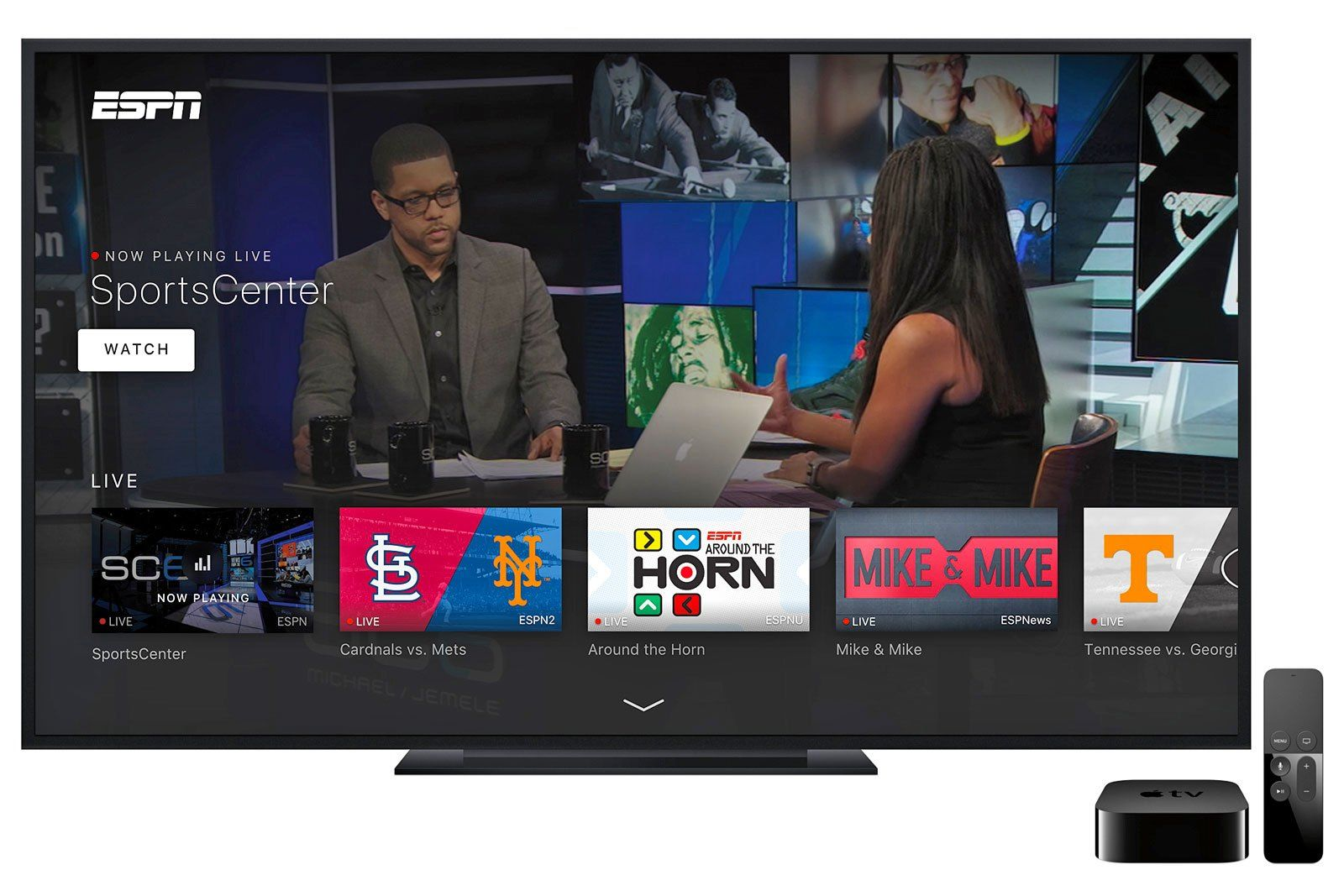 ESPN's new Apple TV app behaves like your cable box Tv