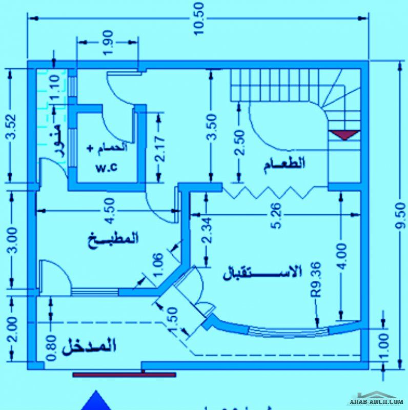 الفلل والقصور صفحة 11 3d House Plans Model House Plan Small House Floor Plans