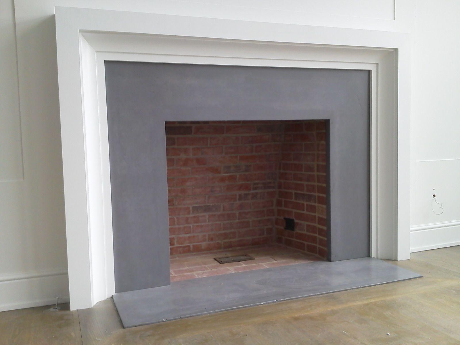 Concrete Encounter concrete fireplace surround. Modern
