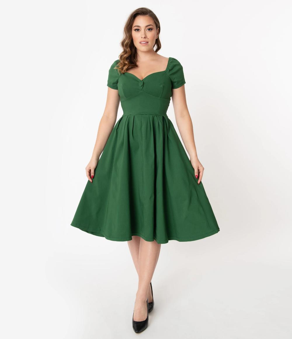 Unique Vintage 1950s Green Sweetheart Midge Swing Dress Vintage 1950s Dresses 1950s Swing Dress Swing Dress [ 1164 x 1000 Pixel ]
