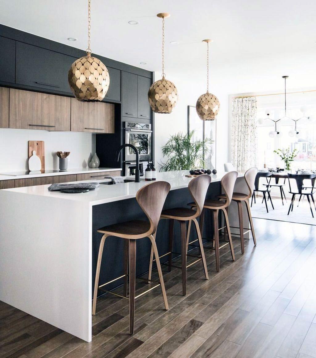 45 Uncommon Black Scandinavian Kitchen Design For Your Inspirations Scandinavian Kitchen Design White Wood Kitchens Kitchen Design