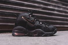 Brave ball warrior, the Nike Air Max Uptempo gets a blacked-out drop for  all the steampunks out there. Copper detailing lines the perimeter of the  Swoosh ...