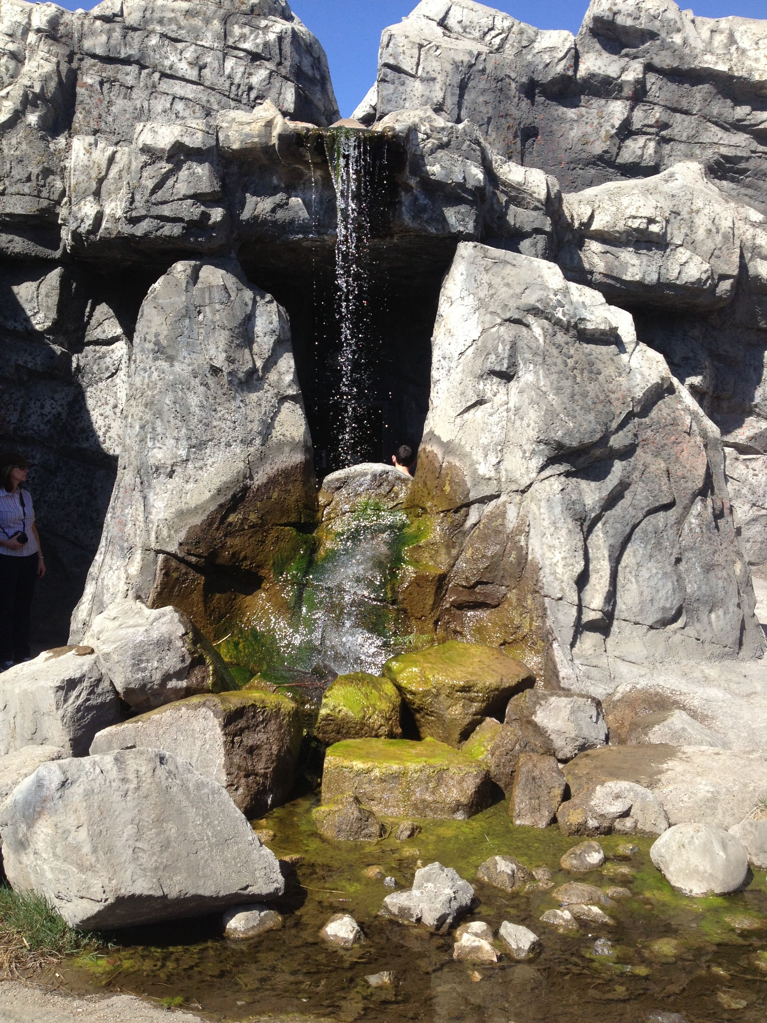 Waterfall At The Calgary Zoo With Images Natural Landmarks