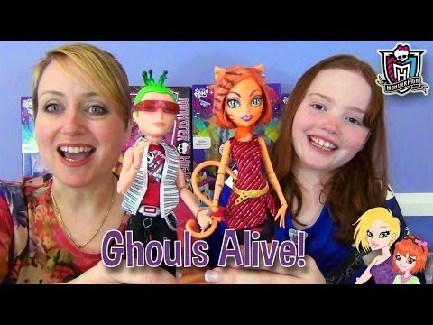 Monster High Ghouls Alive Deuce Gorgon and Toralei Stripe Doll Review - YouTube