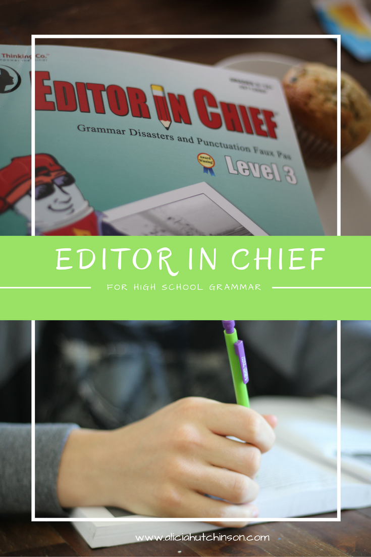 Editor in Chief workbooks for your high schooler | Homeschool ...