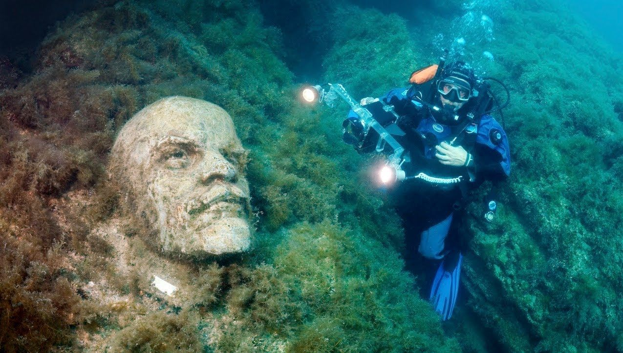 Real Life Soviet Atlantis Underwater Museum In Ukraine