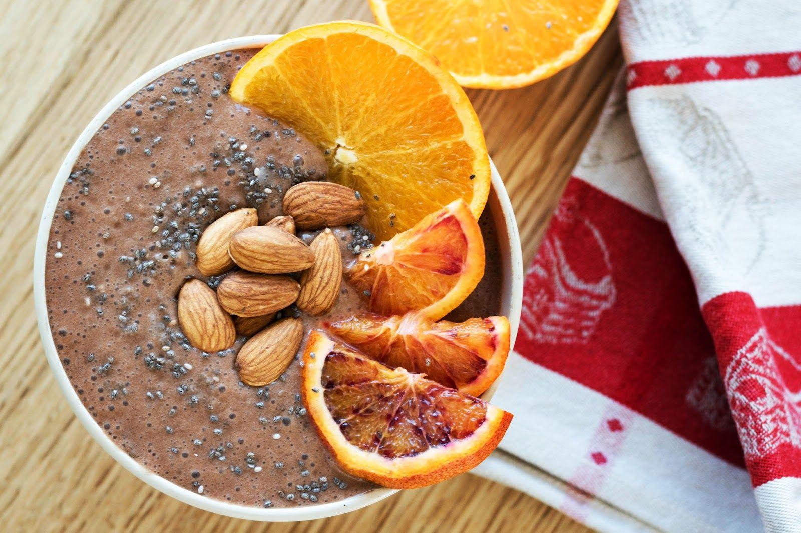 Smoothie Bowl Chocolat Agrumes Bon Petit Dejeuner Alimentation