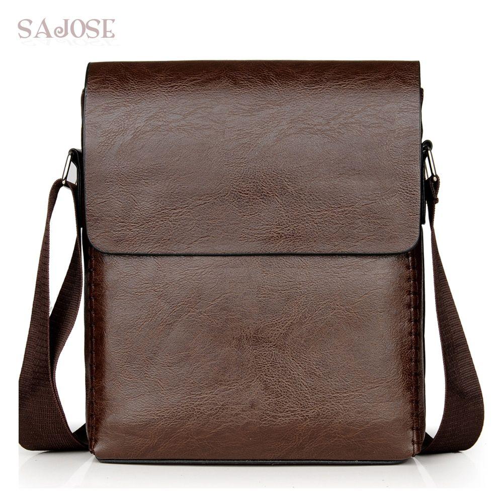 7b0dddd36 Crossbody Bags For Men PU Leather Shoulder Bag Male Casual Simple Knitting Messenger  Bags Men's High
