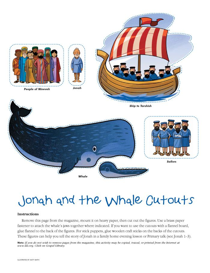 Jonah and the whale cut out. | sunday school | Pinterest | La ...