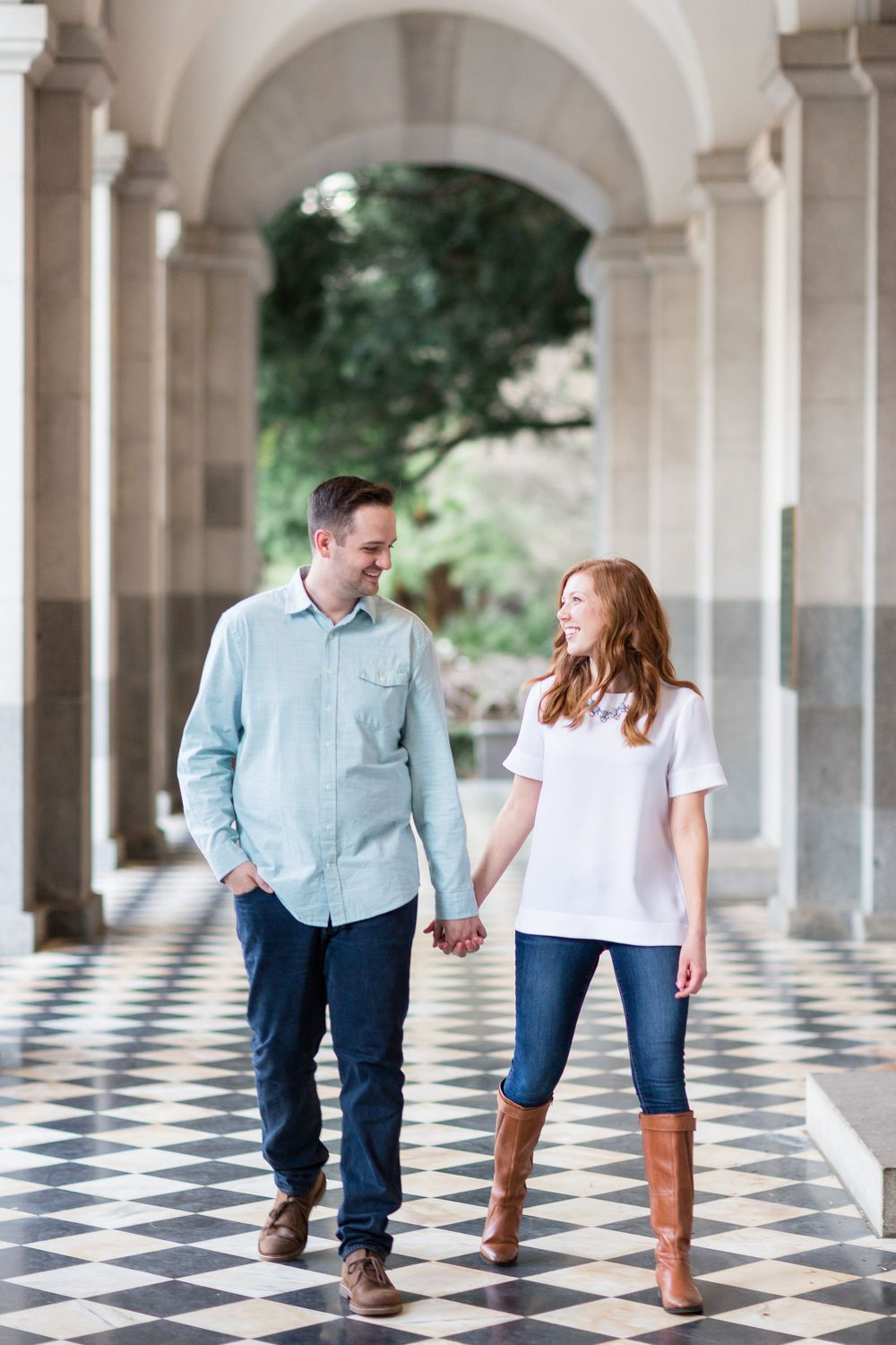 State Capitol Downtown Sacramento Engagement Photography