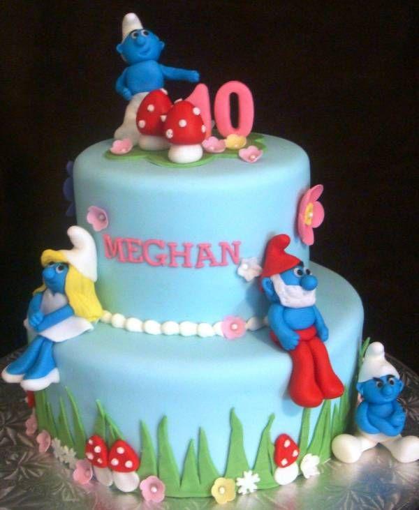 Smurf Birthday Cakes Touch Of Cake Our Cakes Birthday Cakes