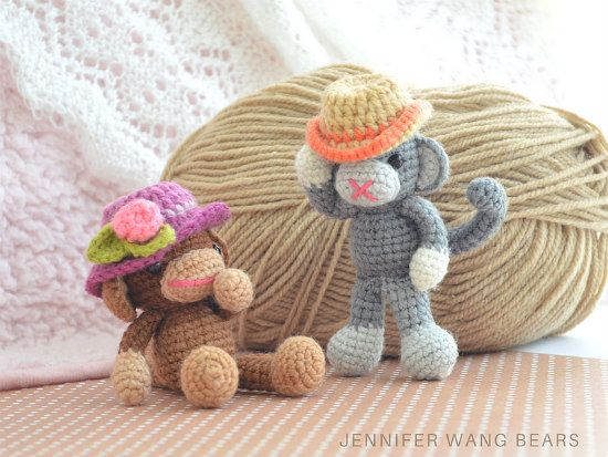 Free Pattern Crochet Monkey Hats Monkey Hat Crochet Monkey Hat