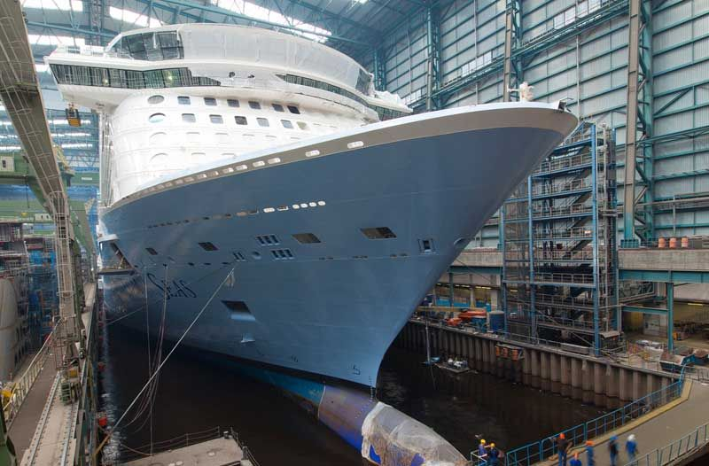 Quantum Of The Seas Float Out At Shipyard Delayed Royal - Cruise ship delayed