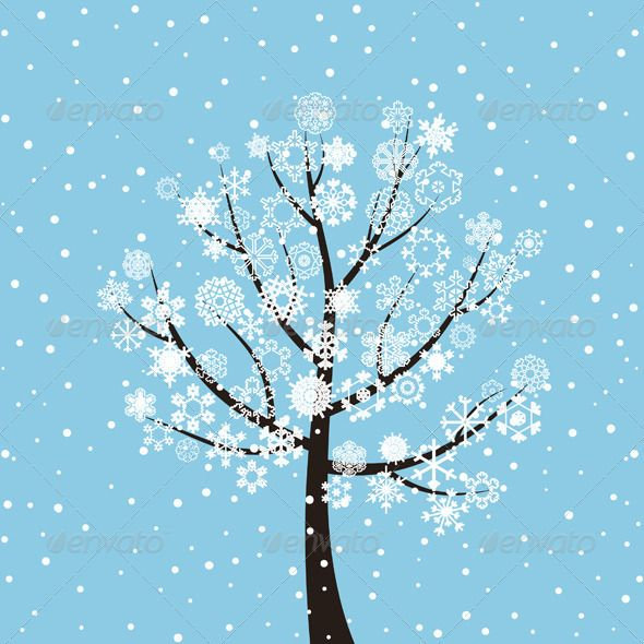 Winter Tree Vector graphics, Font logo and Graphics