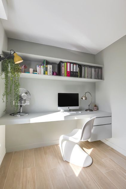 20 Inspirational Home Office Decor Ideas For 2019: Home Office Space, Home Office Design, Home Office