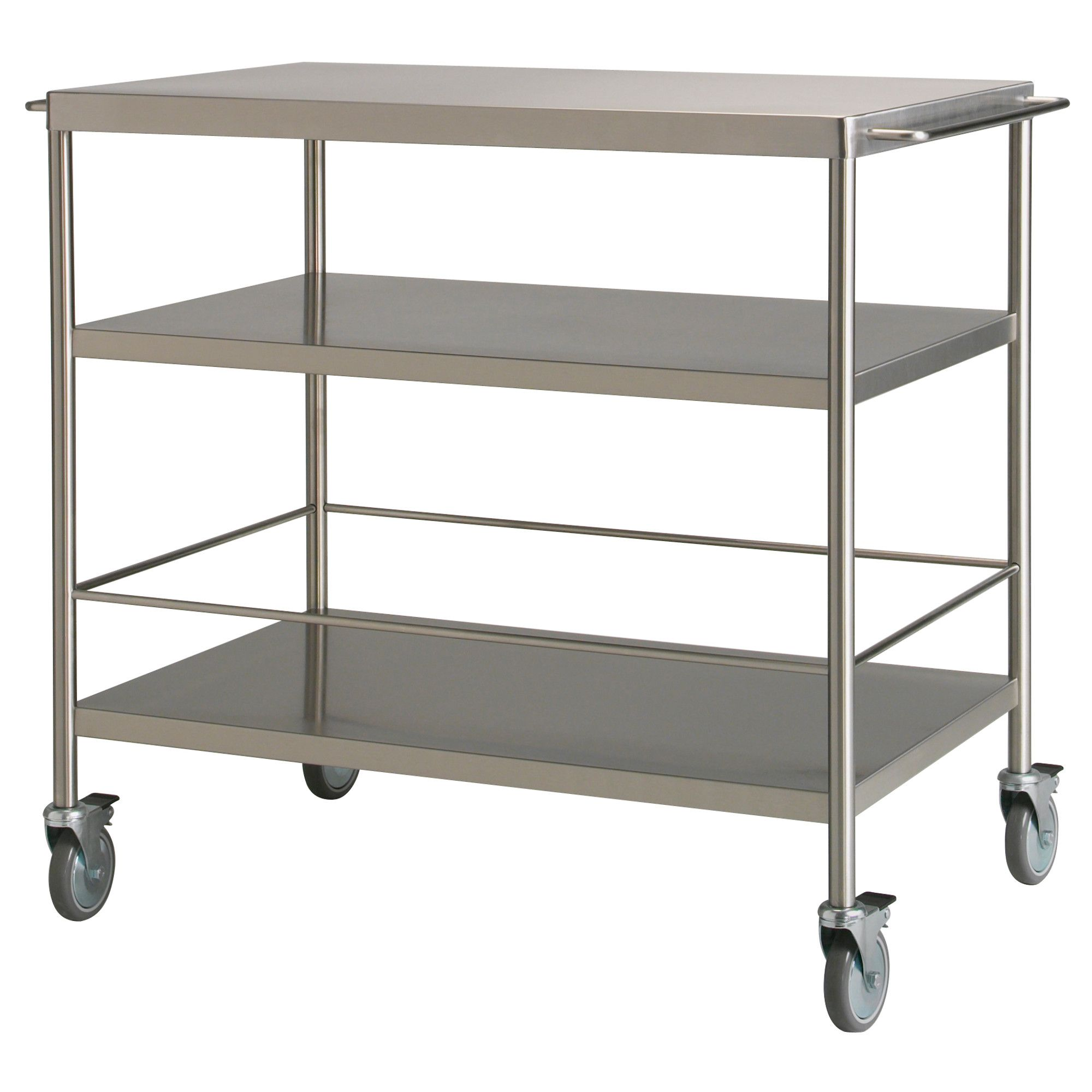 FLYTTA Kitchen cart, stainless steel | Kitchen carts, Extra storage ...