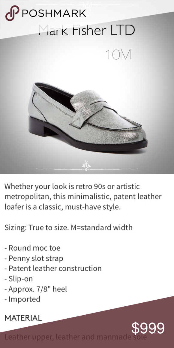 43dbab3aba5d1 Crackled Silver Patent Leather Penny Loafers Crackled Silver Patent ...