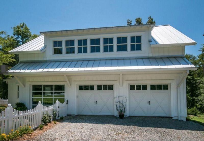 carolina garage doorA Modern Farmhouse For Sale in North Carolina  White farmhouse