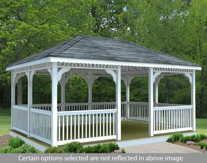 10 X 16 Vinyl Rectangular Gazebo Gazebo Construction Rectangular Gazebo Patio Gazebo