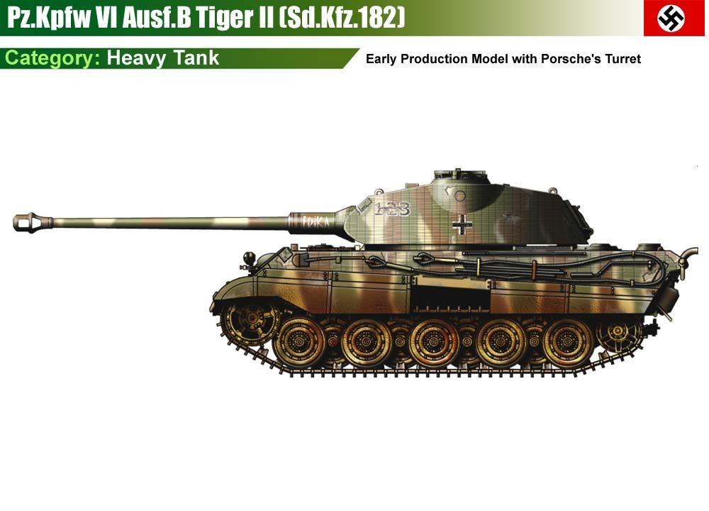 Pz Kpfw Vi Ausf B Tiger 2 Porsche T 252 Rm Ww Ii Germany