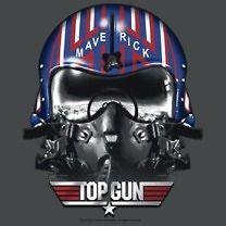 Licensed Top Gun Movie Maverick Helmet Tom Cruise Tee Shirt Adult