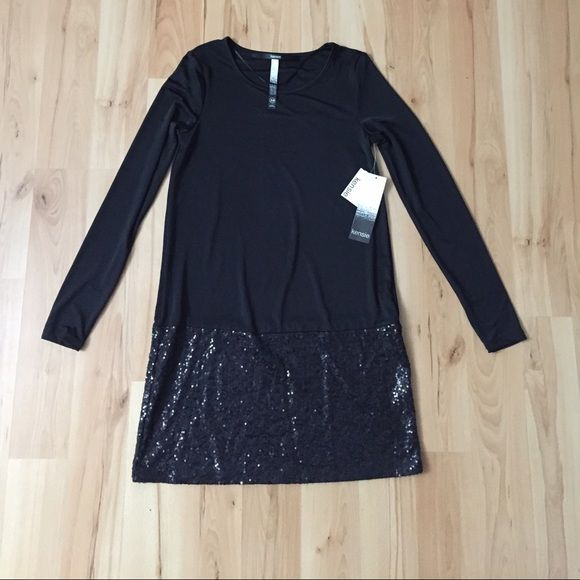 NWT Kensie Dress sequin detail Super soft material with small sequins on bottom of dress. Size XS. Kensie Dresses Long Sleeve