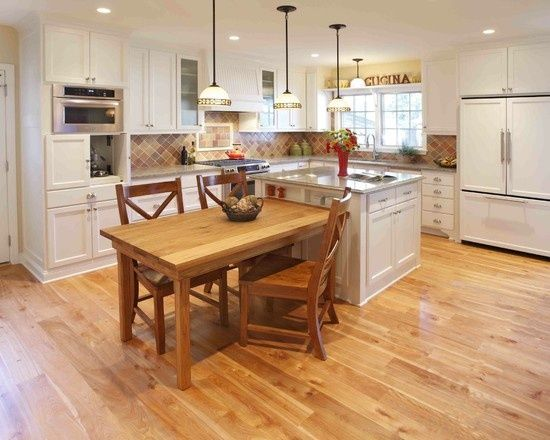 Kitchen Island Table Design Pictures Remodel Decor And Ideas Kitchen Island With Table Attached Kitchen Island Table Combo Kitchen Island Table