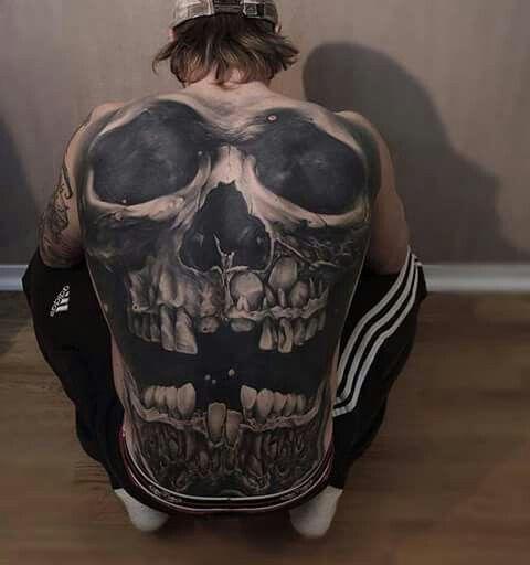 Full Back Skull Tattoo Skulls Pinterest Tattoos Back Tattoos