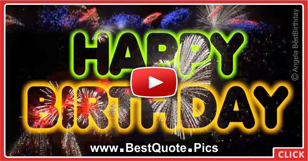 Colorful Fireworks For Your Happy Birthday Video Happy