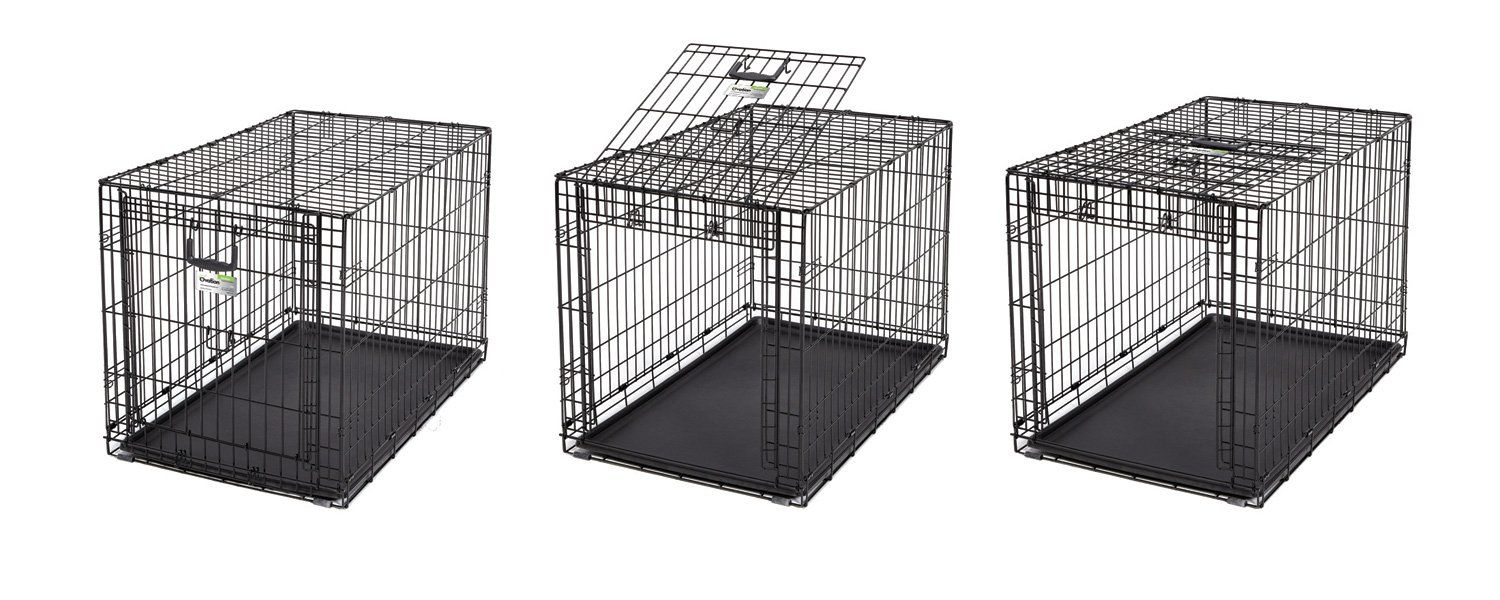 Midwest Homes For Pets Dog Crate Icrate Single Door And Double Door Folding Metal Dog Crates Fully Equipped Check Out Th In 2020 Dog Playpen Dog Cages Dog Crate