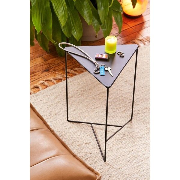 Triangle Side Table (51 CAD) ❤ Liked On Polyvore Featuring Home, Furniture,