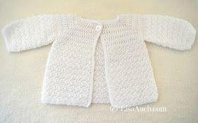 Crochet Baby Cardigan Easy Free Pattern #crochetbabycardigan