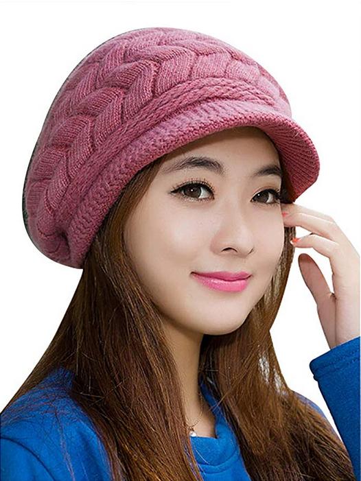 e02e5c29 Women Winter Hat #Warm Knit Wool Hats #Snow Caps #caps #hat #Womens ...