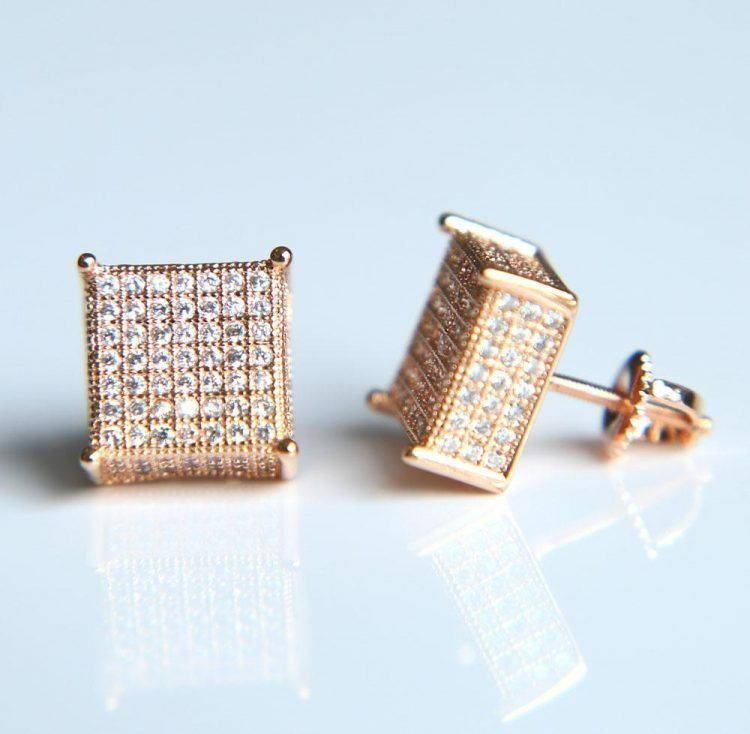 5bed773ca Big Cube Earrings   Lovely Jewelry   Simple jewelry, Simple earrings ...