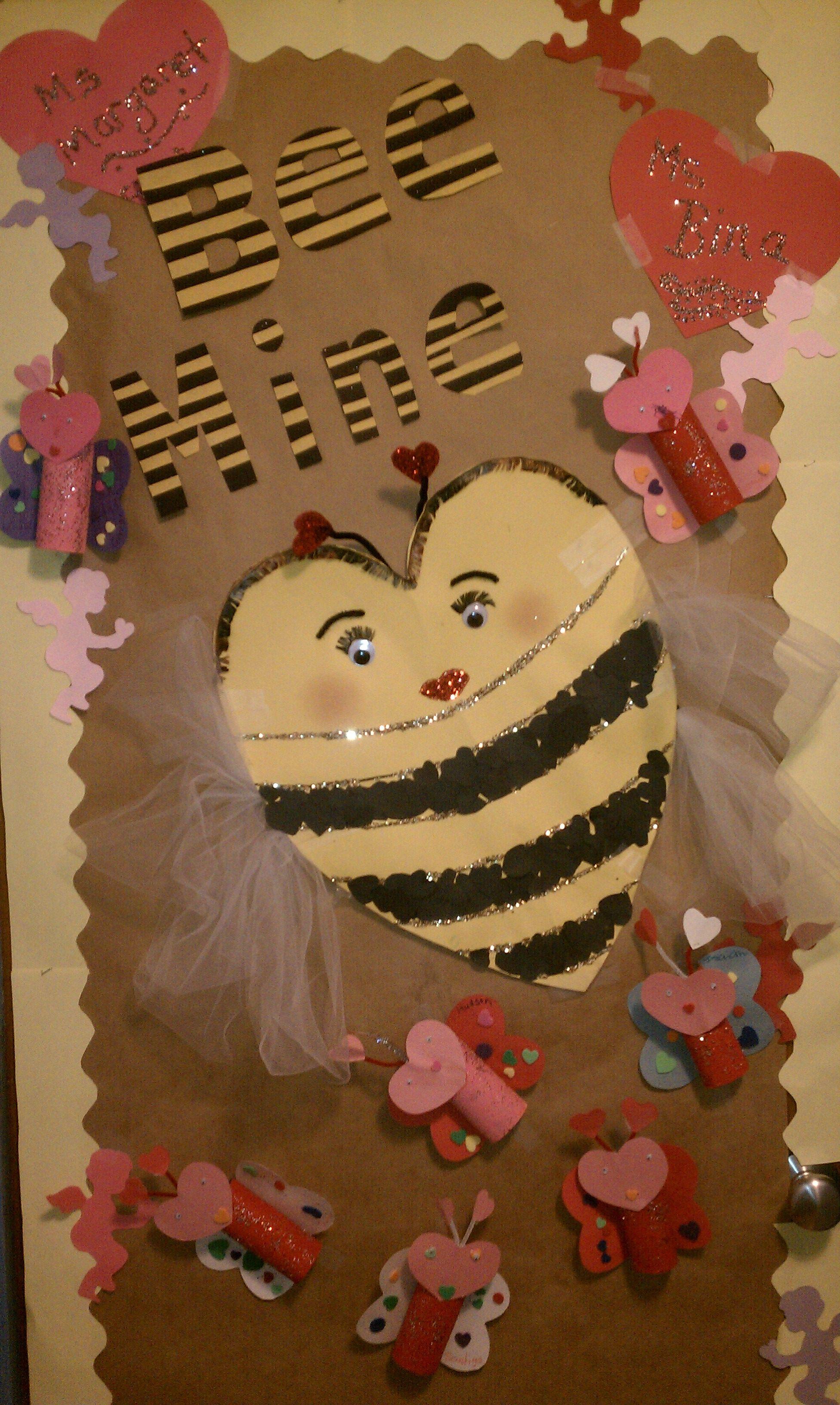 Valentine Door Decoration Ideas Valentine Bee Mine Preschool Door Decoration My Preschool Wall