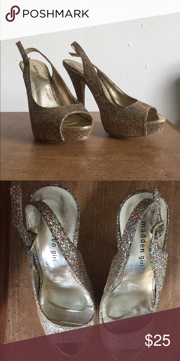 59235387a761 Madden Girl Heels Super cute and sparkly heels! Worn twice for a pageant a  couple years ago. Madden Girl Shoes Heels