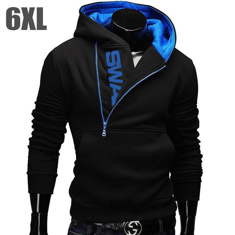 22a2b44832c43 6XL Fashion Brand Hoodies Men Sweatshirt Male Zipper Hooded Jacket Casual  Sportswear Moleton Masculino Assassins Creed Outwear