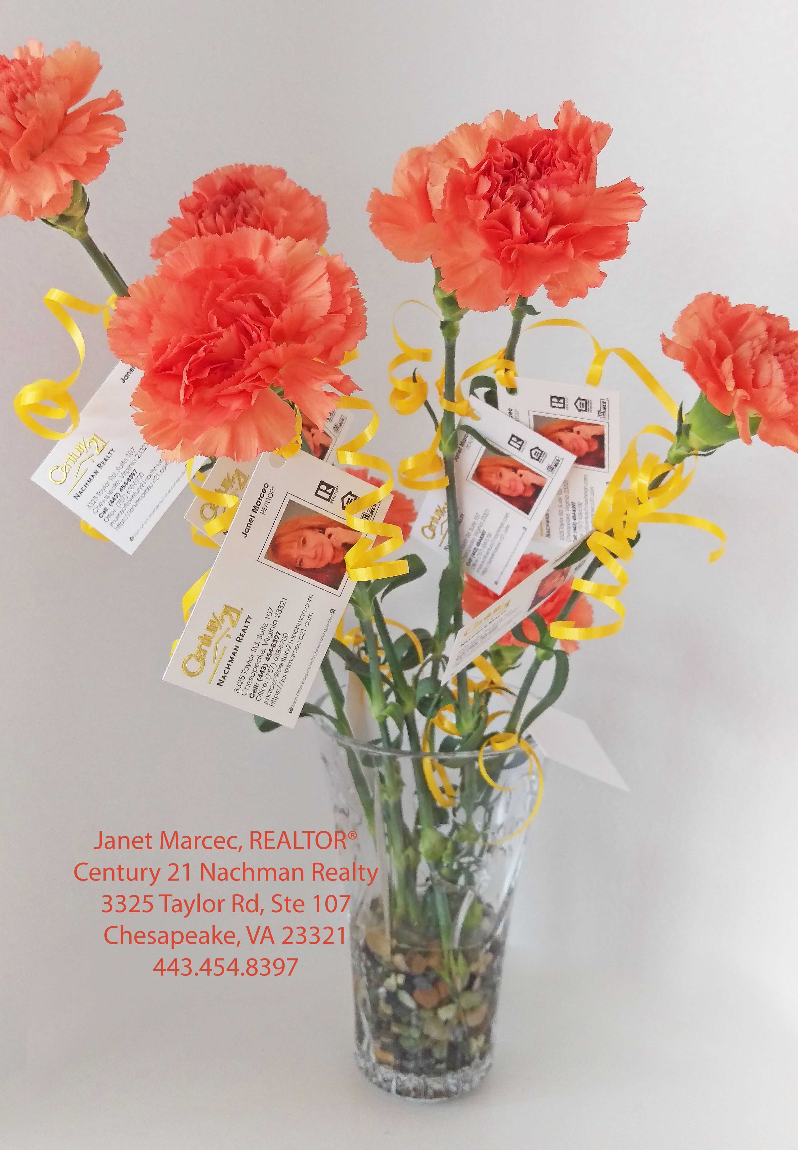 This is my open house business card bouquet made inexpensively this is my open house business card bouquet made inexpensively with long stem magicingreecefo Gallery