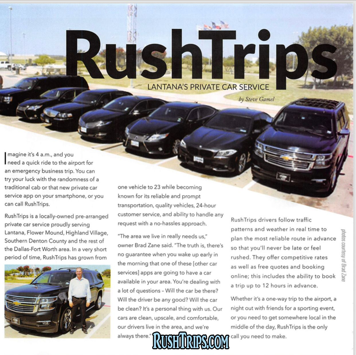 Rushtrips Transportation Llc Is A Private Car Service Based Right