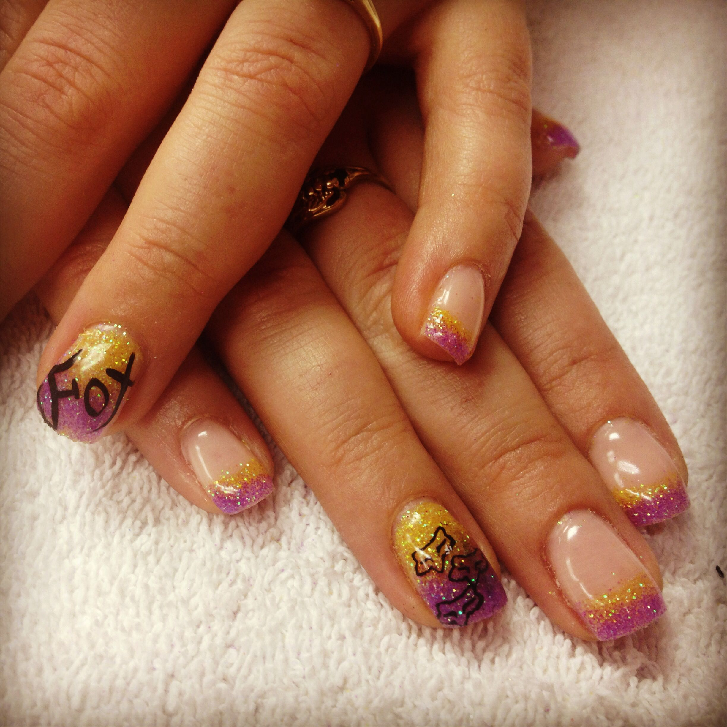 Fox Racing Glitter Nails #nails #fox #racing #nailart # ...