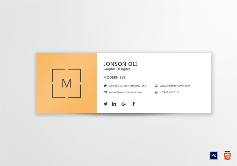 Modern Email Signature Template Email Signature Templates Email Signature Generator Email Signature Design