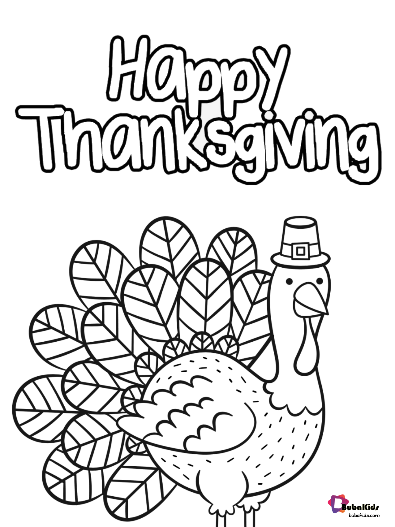 Free And Printable Happy Thanksgiving Coloring Page Cute Turkey Gobble Til You Wobble Pr Thanksgiving Coloring Pages Coloring Pages Cartoon Coloring Pages