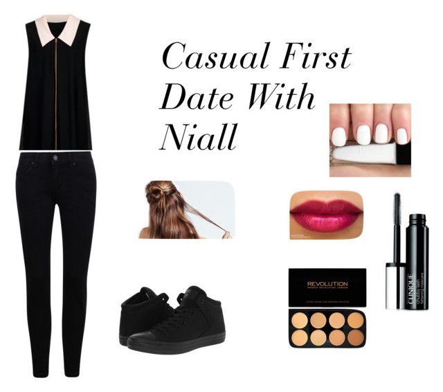 """Casual First Date with Niall"" by jazzybarrera on Polyvore featuring Ted Baker, Converse and Clinique"