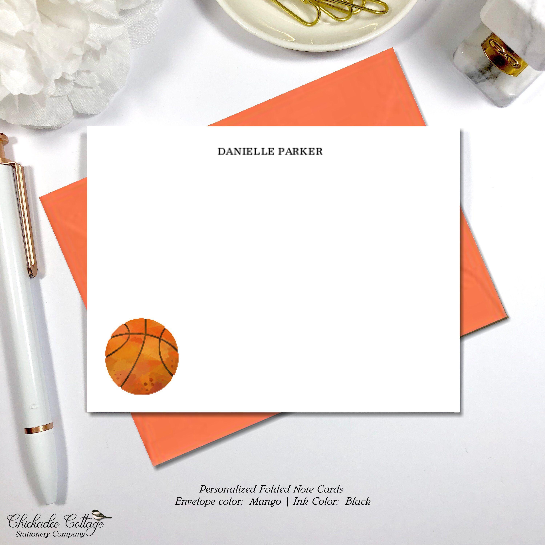 Basketball stationery set basketball gift personalized